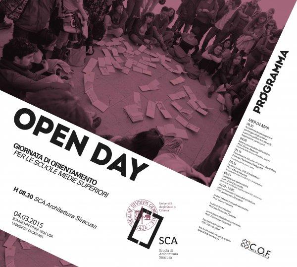 Open day architettura universit di catania l 39 agenda for Studio architettura catania