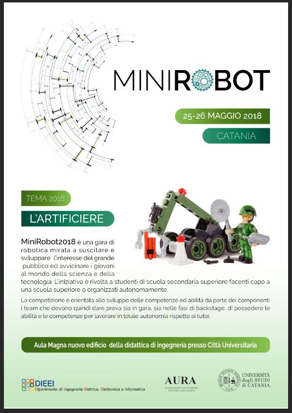 Minirobot 2018 Lartificiere Università Di Catania Lagenda